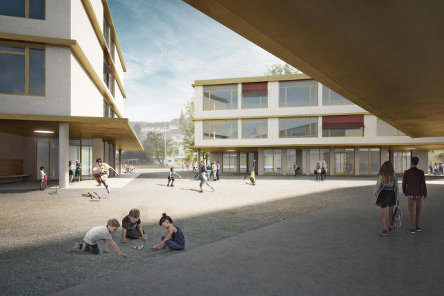 JA zum Neubau Schulhaus Staffeln