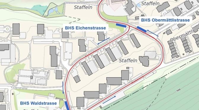 Drei neue Bushaltestellen für Reussbühl
